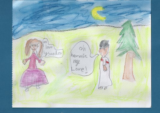 A Midsummer Night's Dream watercolour crayon picture by C (8)