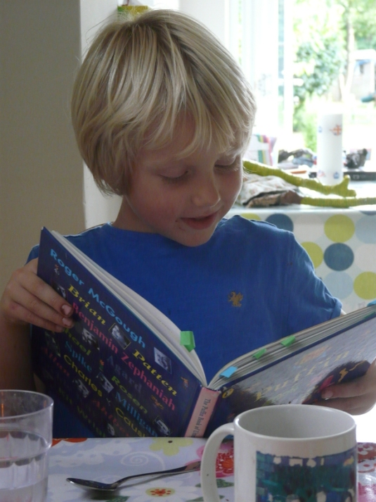 Poetry Teatime at navigating by joy homeschool blog